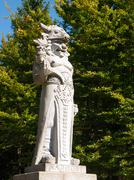 Statue of god Radegast on Radhost Mountain in Beskydy Stock Photos