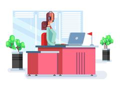 Operator in a call center Stock Illustration