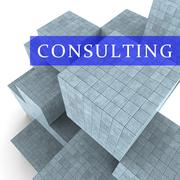 Consulting Words Represent Seek Advice 3d Rendering Stock Illustration