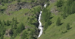 Waterfall in Western Alps, France Stock Footage