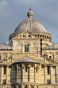 Architectural Detail of Piazza dei Miracoli, Pisa, Italy Stock Photos