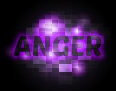 Anger Word Indicates Unhappy Annoyed And Rage Stock Illustration