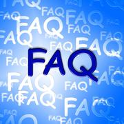 Faq Words Indicate Frequently Asked Questions And Advice Stock Illustration