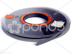 Magnetic tape reel Stock Photos