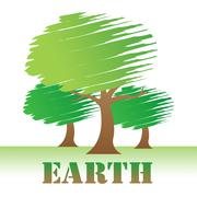 Earth Trees Represents Environment Forest And Nature Stock Illustration