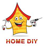 Home Diy Represents Do It Yourself Home Stock Illustration