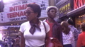 African American Woman Black Times Square NYC  70s Vintage Film Home Movie 9990 HD Footage