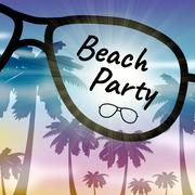 Beach Party Indicates Ocean Coast And Celebration Stock Illustration