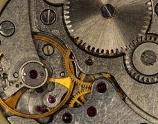 Clockwork old mechanical Stock Photos