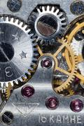 Clockwork old mechanical Stock Photos
