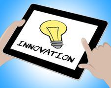 Innovation Online Means Creative Breakthrough 3d Illustration Stock Illustration
