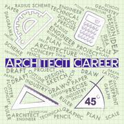 Architect Career Shows Architecture Design 3d Illustration Piirros
