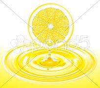 Zitronen-Saft Stock Photos