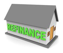 House Refinance Shows Equity Mortgage 3d Rendering Stock Illustration