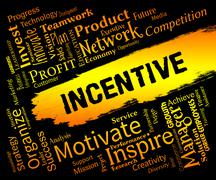Incentive Words Means Bonus Rewards And Bonus Stock Illustration