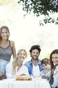 Family spending time together outdoors Stock Photos