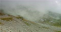 Fogbank And Mist At Vallon De Caralaite, France Stock Footage