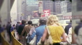 People Wait for Taxis Stand Cab Manhattan NYC 1970s Vintage Film Home Movie 9981 HD Footage