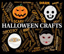 Halloween Crafts Means Creative Artwork And Designs Stock Illustration