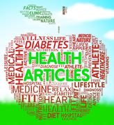 Health Articles Indicates Medicine Editorials And Magazines Stock Illustration