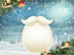 Santa s beard. EPS 10 Stock Illustration