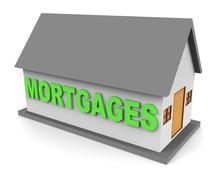 House Mortgages Represents Home Loan 3d Rendering Piirros