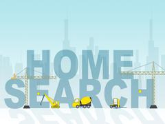 Home Search Shows Searching For House 3d Illustration Stock Illustration