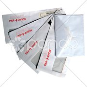 Airmail letters isolated Stock Photos