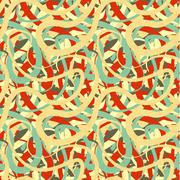 Lines in retro colours, abstract seamless pattern Stock Illustration