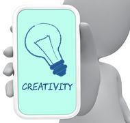 Creativity Online Shows Design Ideas 3d Rendering Stock Illustration
