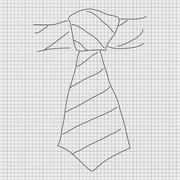 Doodle sketch of a tie on graph paper background Stock Illustration