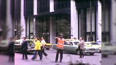 African American Black Police Man Traffic NYC 70s Vintage Film Home Movie 9974 Stock Footage