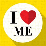Love Me Means Magical And Wonderful Self Stock Illustration