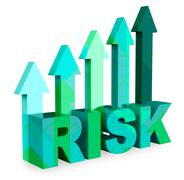 Risk Arrows Show Caution And Danger 3d Rendering Stock Illustration