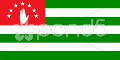 The national flag of Abkhazia Stock Photos