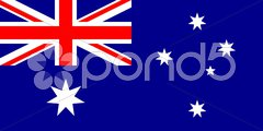 The national flag of Australia Stock Photos