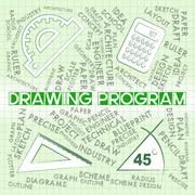 Drawing Program Represents Software Programs And Apps Stock Illustration