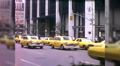 Taxis Cabs on Street People Manhattan NYC 1970s Vintage Film Home Movie 9973 HD Footage