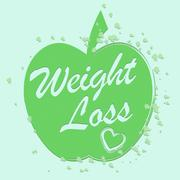 Weight Loss Shows Dieting And Slimming Diet Stock Illustration