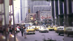 People Hail Taxi Cabs on Street Manhattan NYC 1970s Vintage Film Home Movie 9972 Stock Footage