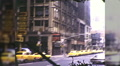 Taxis Cab NYC Street Thru Windshield Manhattan 70s Vintage Film Home Movie 9971 HD Footage