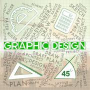 Graphic Design Represents Creative Illustrator And Designs Stock Illustration
