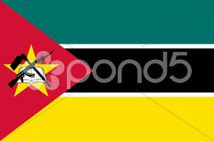 The national flag of Mozambique Stock Photos