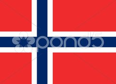 The national flag of Norway Stock Photos