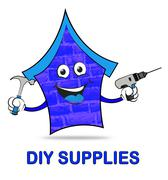 Diy Supplies Represents Do It Yourself Renovation Stock Illustration