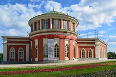 Moscow, Russia - June 08, 2016. Administrative building in the museum-estate  Stock Photos