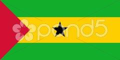 The national flag of Sao Tome and Principe Stock Photos