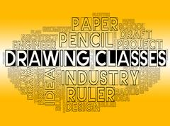Drawing Classes Represents Lesson Schooling And Learning Stock Illustration