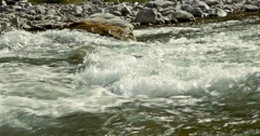 Water Stream, Western Alps, France Stock Footage