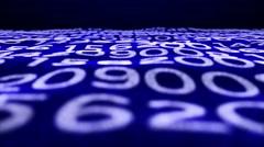 Random Numbers Technology Code Background, Loop, 4k Stock Footage